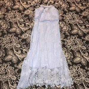 boutique hedwig crochet midi dress